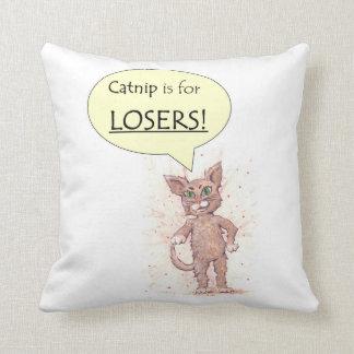 Valp och självsäker kattunge kudde