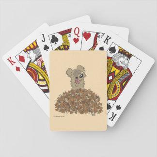 Valpdrömmar som leker kort casinokort