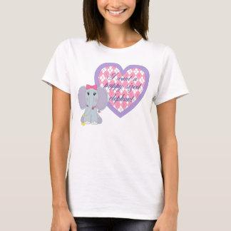 Valpen storleksanpassade elefanten t shirts