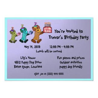 Valphundfödelsedag Invitaiton 12,7 X 17,8 Cm Inbjudningskort