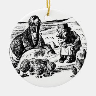 Valross, Carpeter och ostroner Julgransprydnad Keramik