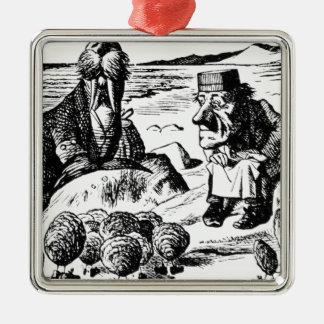 Valross, Carpeter och ostroner Julgransprydnad Metall