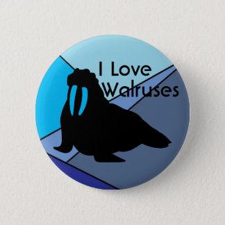 Valrossar älskar knäppas standard knapp rund 5.7 cm