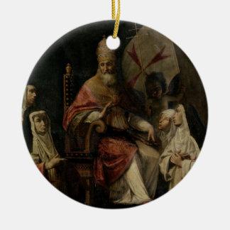 Välsigna Carmelite nunnor för Pope Mild VIII olja Julgranskula