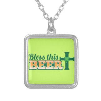 VÄLSIGNA DENNA ÖL från ölen shoppar Silverpläterat Halsband