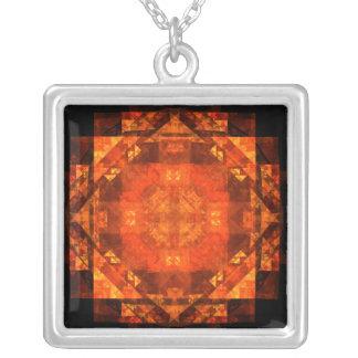 Välsigna det abstrakt silverhalsbandet silverpläterat halsband