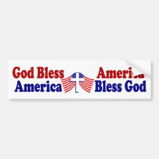 Välsigna dig Amerika - Amerika välsignar guden Bildekal