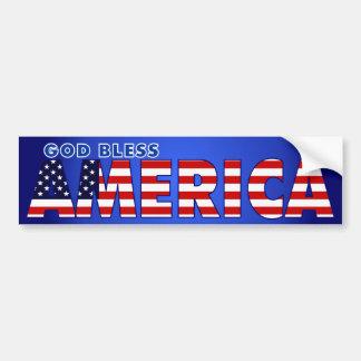 Välsigna dig Amerika Bildekal