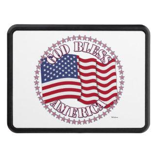 Välsigna dig Amerika och kor med USA flaggan Dragkroksskydd