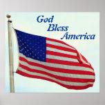 Välsigna dig Amerika Print