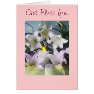 Välsigna dig dig hälsningskort