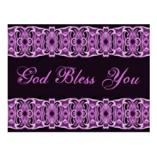 Välsigna dig dig lilasvart vykort