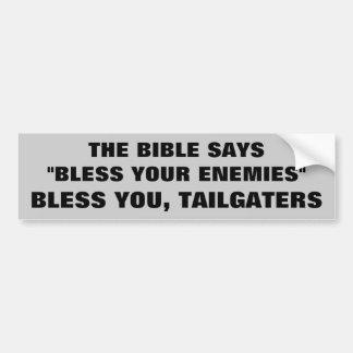 Välsigna dig dig Tailgaters Bildekal