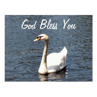 Välsigna dig dig vitsvan vykort