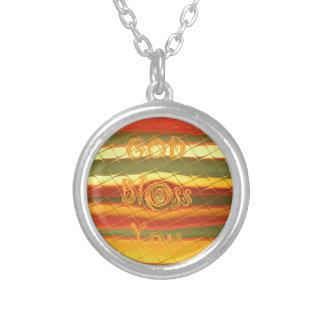 Välsigna dig färgar du design halsband med rund hängsmycke