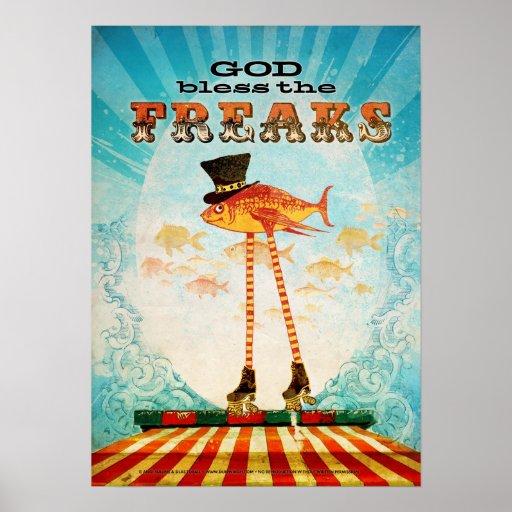 Välsigna dig freakerna affisch