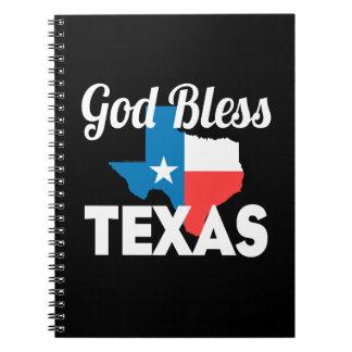 Välsigna dig Texas Anteckningsbok Med Spiral