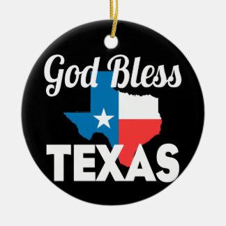 Välsigna dig Texas Julgransprydnad Keramik