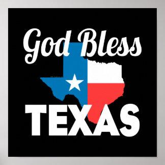 Välsigna dig Texas Poster