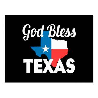 Välsigna dig Texas Vykort