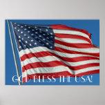 Välsigna dig USA affischen