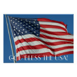 Välsigna dig USA affischen Affischer