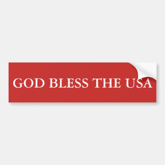 Välsigna dig USA Bildekal