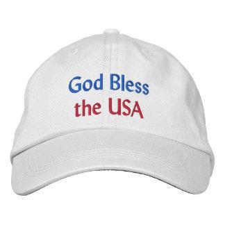 Välsigna dig USA broderade hatten Broderad Baseball Keps