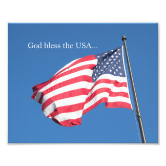 Välsigna dig USA… Fototryck