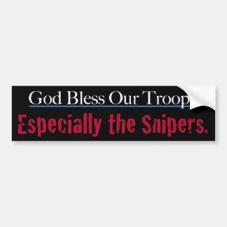 Välsigna dig våra soldater speciellt bildekal