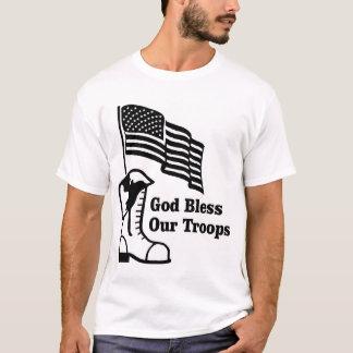 Välsigna dig våra soldater t-shirt