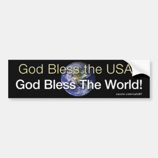 Välsigna dig världen bildekal