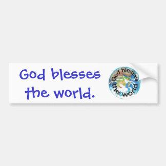 Välsigna dig världsbildekalen bildekal