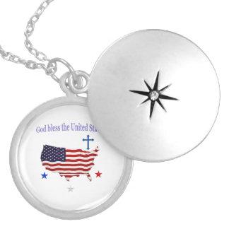 Välsigna digAmerika gåvor Halsband Med Rund Berlock