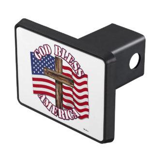 Välsigna digamerikan med USA flaggan och kor Dragkroksskydd