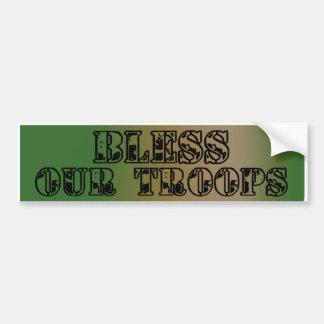 Välsigna vår Troops_Bumper klistermärke