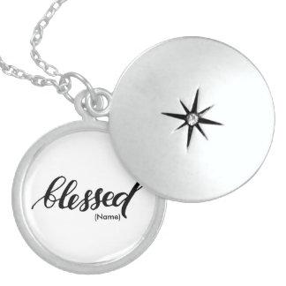 Välsignad anpassningsbar halsband med rund berlock