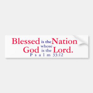 Välsignad är nationen vars gud är lorden T-shir Bildekal