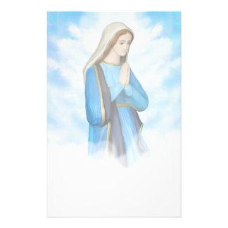 Välsignad jungfrulig Mary brevpapper