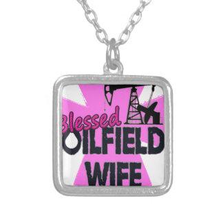 Välsignad kor för Oilfieldfrurosor Halsband Med Fyrkantigt Hängsmycke