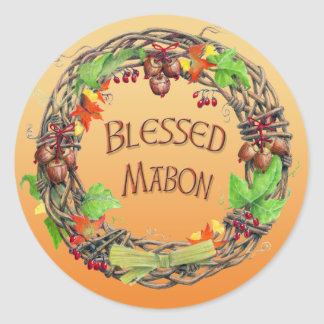 Välsignad Mabon kran Runt Klistermärke