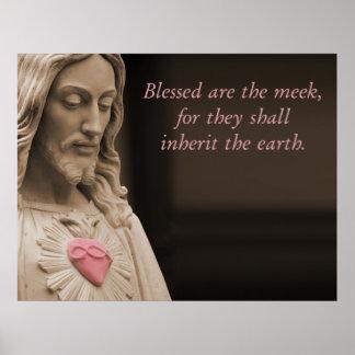 Välsignade är de ödmjuka beatitudesna poster