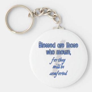 Välsignade är de som sörjer rund nyckelring