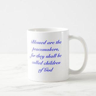 Välsignade är fredsmäklarna, for de är… kaffemugg