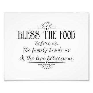 Välsignade denna mat fototryck