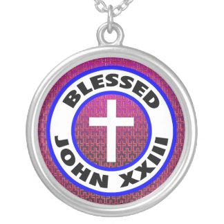 Välsignade John XXIII Halsband Med Rund Hängsmycke