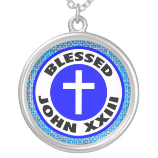 Välsignade John XXIII Silverpläterat Halsband