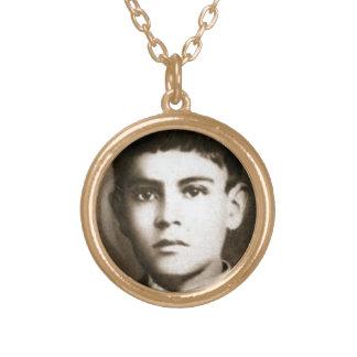 Välsignade Jose Sanchez Del Rio Guldpläterat Halsband