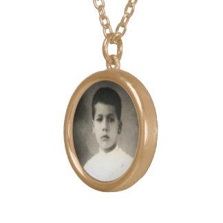 Välsignade Jose Sanchez Del Rio - helig medalj 2 Guldpläterat Halsband