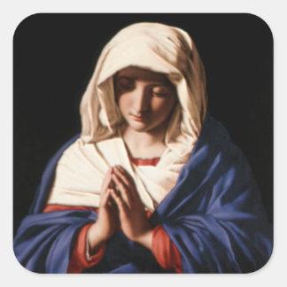 Välsignade jungfruliga Mary - mor av guden Fyrkantigt Klistermärke